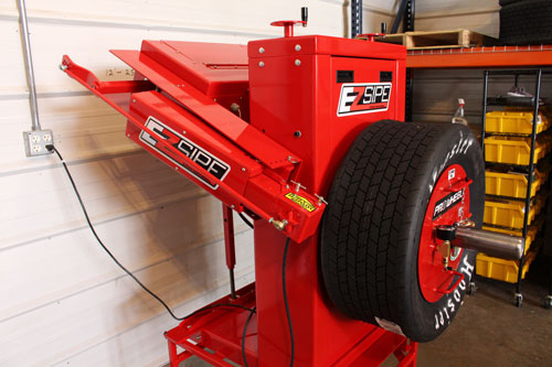 side view tire siping machine